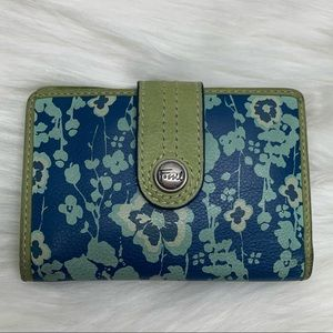 Fossil genuine leather small floral wallet